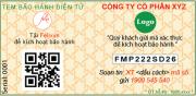 tem QR code bao hanh